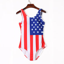 Load image into Gallery viewer, American Flag Print One Piece Swimsuit