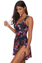 Load image into Gallery viewer, Multicolor Flower Print Swimdress