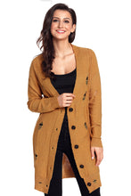 Load image into Gallery viewer, Khaki Distressed Button Cardigan