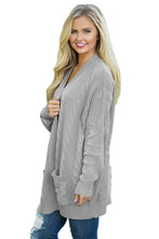 Load image into Gallery viewer, Gray Knit Texture Long Cardigan