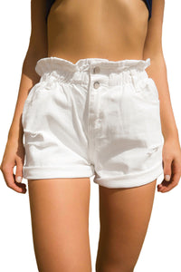 White Bloomingdale Shorts