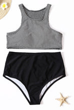 Load image into Gallery viewer, Striped Solid Color Vest Swimsuit Two-piece Suit