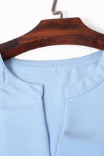 Load image into Gallery viewer, Sky Blue V Cut Buttoned Tank Top