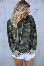 Load image into Gallery viewer, Green Camo Print Pullover Hoodie