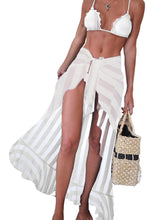 Load image into Gallery viewer, White Sheer Wrap Sarong Maxi Beach Skirt