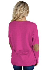 Rosy Elbow Patch Sweatshirt