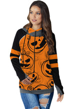 Load image into Gallery viewer, Orange Halloween Pumpkin Hoodie