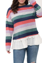 Load image into Gallery viewer, Red Perch by Blu Pepper Plus Size Top