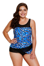 Load image into Gallery viewer, Seaglass Mirage Asymmetric Mesh Detail Tankini Swimsuit