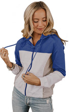 Load image into Gallery viewer, Blue Colorblock Jackson Zip Jacket