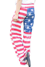 Load image into Gallery viewer, American Flag Vintage Wash Wide Leg Pants