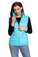 Load image into Gallery viewer, Turquoise Quilted Cotton Down Vest
