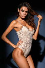 Load image into Gallery viewer, Nude Floral Lace Bustier Bodysuit