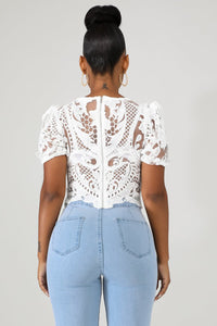 White Dolly Crochet Top