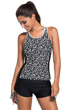 Load image into Gallery viewer, Active Monochrome Racerback Tankini and Swim Shorts