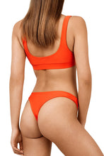 Load image into Gallery viewer, Coral Red Sporty Fashion Bikini Bathing Suit