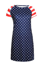 Load image into Gallery viewer, Stars Print Patriotic Tee Dress