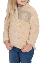 Load image into Gallery viewer, Camel Sherpa Pullover for Little Girl