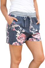 Load image into Gallery viewer, Flush Floral Print Charcoal Casual Shorts