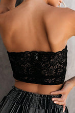 Load image into Gallery viewer, Black Lace Tube Top
