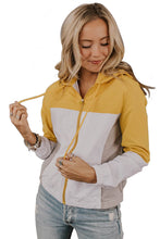 Load image into Gallery viewer, Yellow Colorblock Jackson Zip Jacket