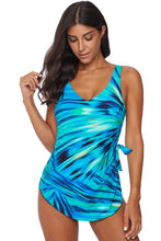 Load image into Gallery viewer, Green Abstract Print Maillot Swimwear