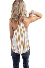 Load image into Gallery viewer, Yellow Stripe Sleeveless Cami Top