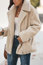 Load image into Gallery viewer, Beige Breaker Pocketed Sherpa Statement Jacket