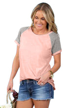 Load image into Gallery viewer, Pink Tri-blend Baseball Tee