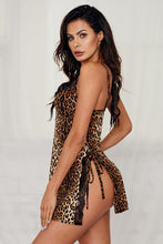 Load image into Gallery viewer, Leopard Animal Print Babydoll Lingerie Dress