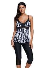 Load image into Gallery viewer, Abstract Print Tankini and Capris Short Swimsuit