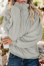 Load image into Gallery viewer, Gray Traverse Pocketed Sherpa Pullover Sweatshirt