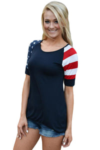 Black Stars Stripes Short Sleeve Tee