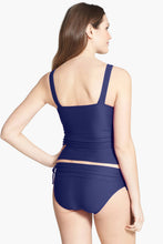Load image into Gallery viewer, Nany Blue Ruched Maternity Tankini Swimsuit