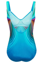 Load image into Gallery viewer, Sky Blue 3D Pattern Sport Maillot Swimsuit