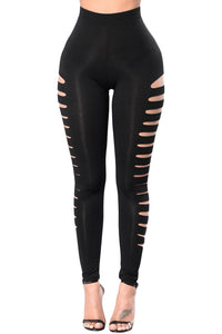 Black Side Cut Out Legging