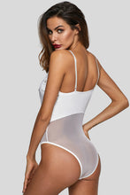 Load image into Gallery viewer, White Lingerie Lace Bodysuit