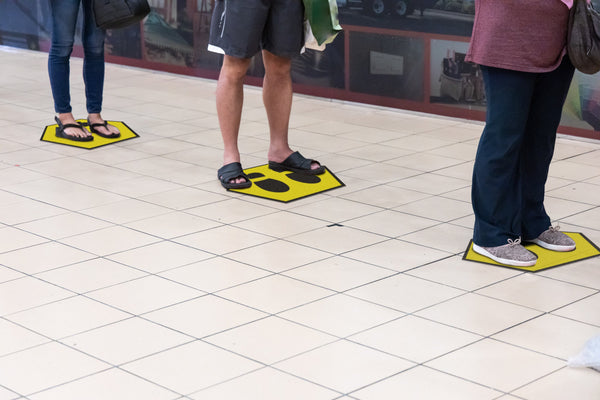 Feet - Spot Floor Safety Sticker (Floor Shark) - Rounded Edge Store