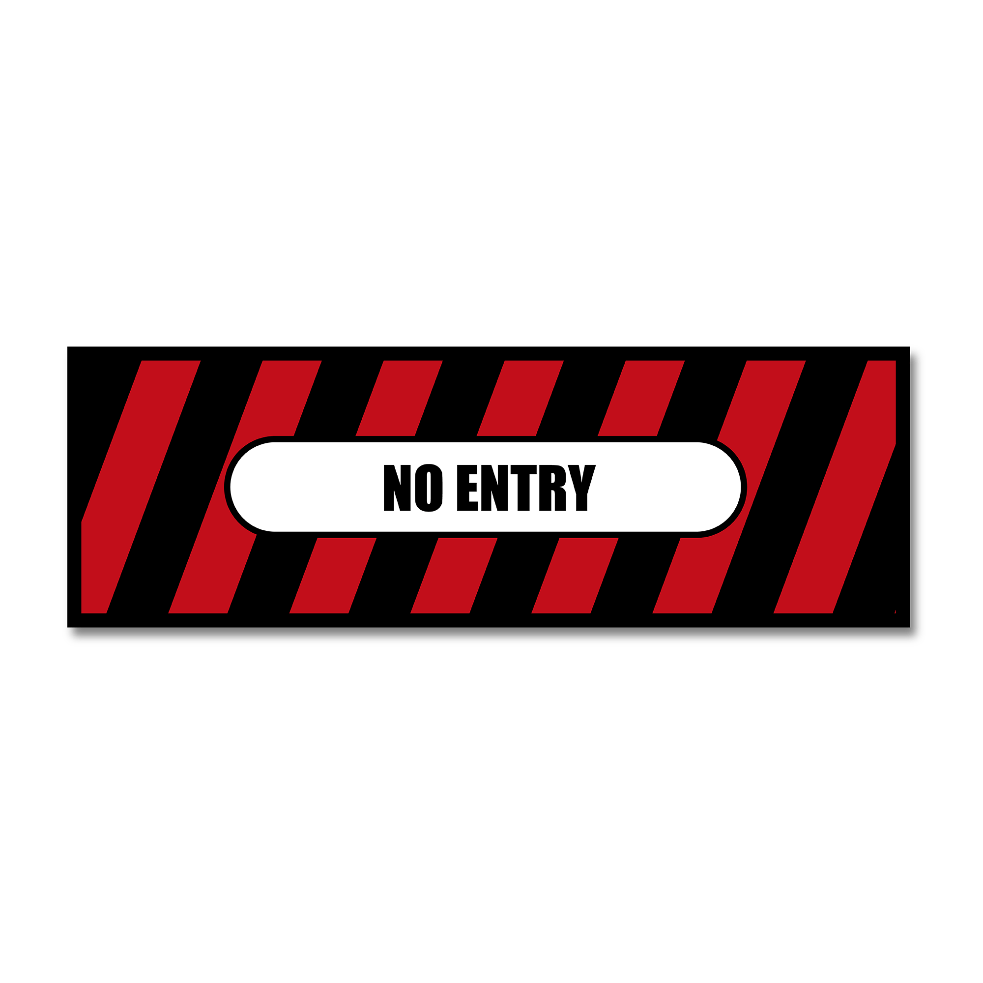 No Entry - Floor Safety Sticker (Floor Shark) - Rounded Edge Store