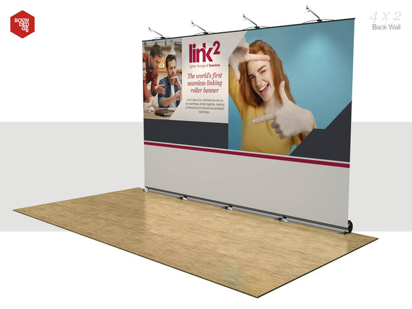 Link2 - Floor space 4m x 2m Back Wall - Rounded Edge Store