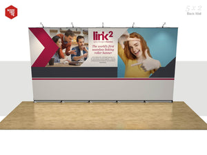Link2 - Floor space 5m x 2m Back Wall - Rounded Edge Store