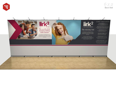 Link2 - Floor space 6m x 2m Back Wall - Rounded Edge Store