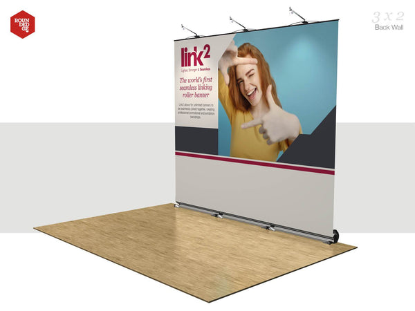 Link2 - Floor space 3m x 2m Back Wall - Rounded Edge Store