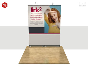 Link2 - Floor space 2m x 2m Back Wall - Rounded Edge Store