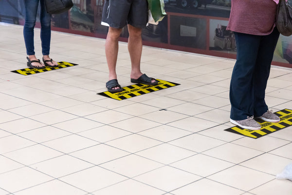 Stand Apart - Floor Safety Sticker (Floor Shark) - Rounded Edge Store