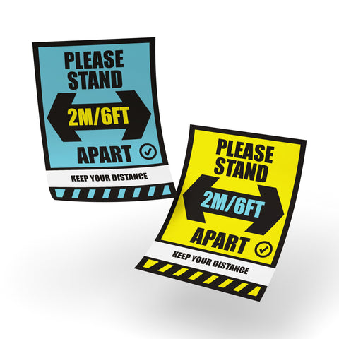 Safety Posters - Social Distancing Safety Poster - Rounded Edge Store
