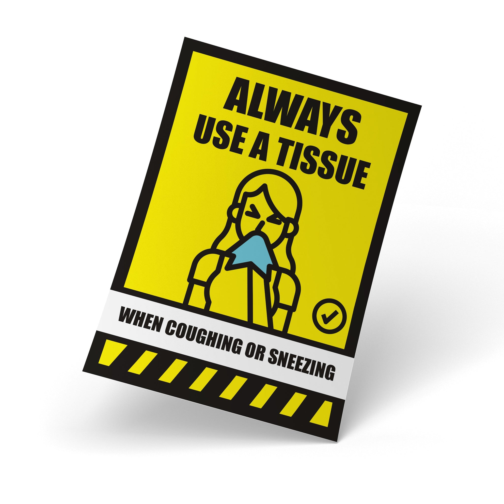 Safety Posters - Always Use A Tissue, Safety Poster - Rounded Edge Store