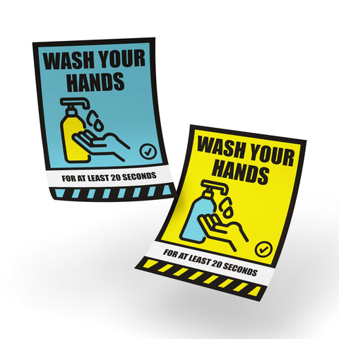 Safety Posters - Wash Your Hands, Safety Poster - Rounded Edge Store