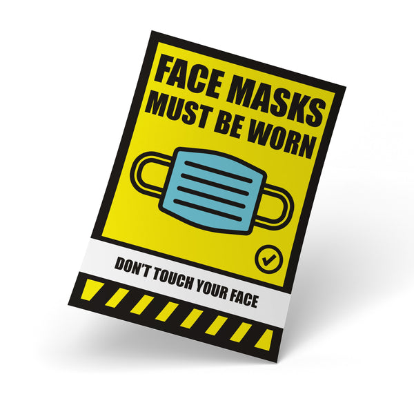 Safety Posters - Face Mask Must Be Worn - Rounded Edge Store