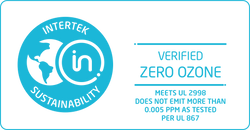 A3 air purifier was verified Zero Ozone by Intertek, it does not emit more than 0.005ppm as tested per UL 867